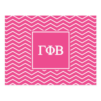 Gamma Phi Beta | Chevron Pattern Postcard