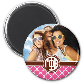Gamma Phi Beta | Monogram and Photo Magnet