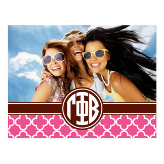 Gamma Phi Beta | Monogram and Photo Postcard