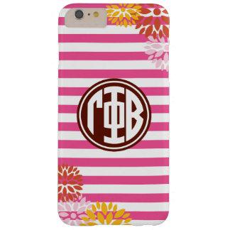Gamma Phi Beta | Monogram Stripe Pattern Barely There iPhone 6 Plus Case