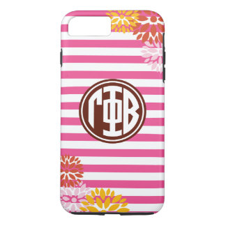 Gamma Phi Beta | Monogram Stripe Pattern iPhone 8 Plus/7 Plus Case