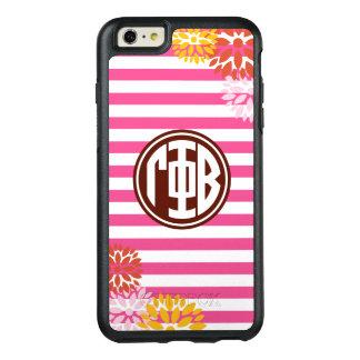 Gamma Phi Beta   Monogram Stripe Pattern OtterBox iPhone 6/6s Plus Case