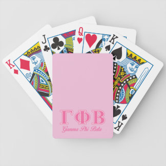 Gamma Phi Beta Pink Letters Bicycle Playing Cards