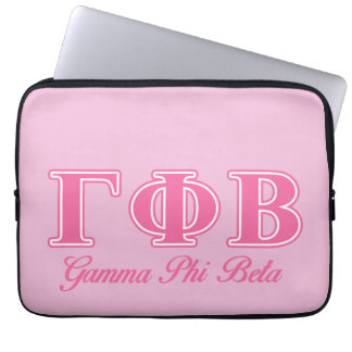 Gamma Phi Beta Pink Letters Laptop Sleeve