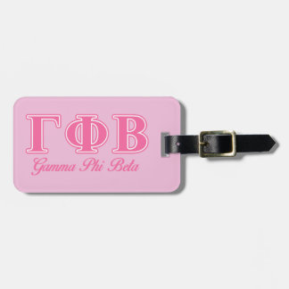 Gamma Phi Beta Pink Letters Luggage Tag