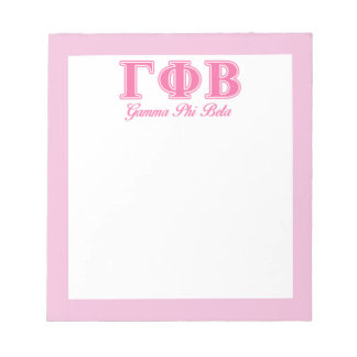 Gamma Phi Beta Pink Letters Notepad