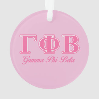 Gamma Phi Beta Pink Letters Ornament