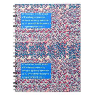 Ganapati Sanskrit Mantra Prayer Symbolic Text Gift Notebooks