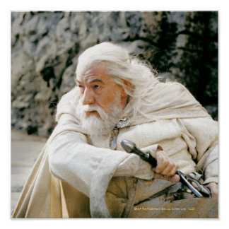 Gandalf the White with Sword Poster