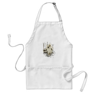 Gandalf with Sword Vector Collage Standard Apron