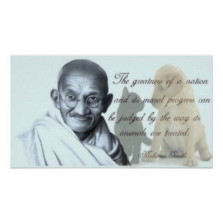 Gandhi animal quote poster