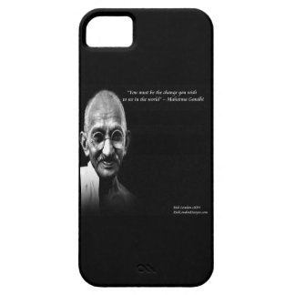 Gandhi Be The Change Quote iPhone 5 Case