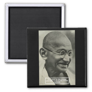 Gandhi 'Change' inspirational quote magnet