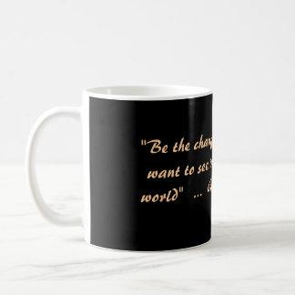 Gandhi Cup . Classic White Coffee Mug
