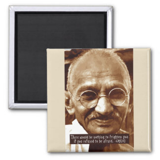 Gandhi 'Fear' inspirational quote magnet