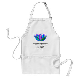 Gandhi Freedom Quote With Lotus Blossom Photo Apron