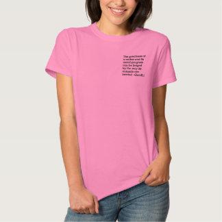 Gandhi & Humane Treatment of Animals Embroidered Shirt