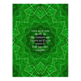 Gandhi Inspirational Quote About Learning Postcard