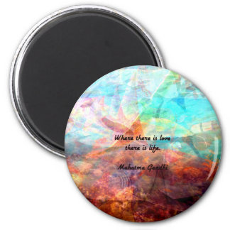 Gandhi Inspirational Quote about Love, Life & Hope 6 Cm Round Magnet