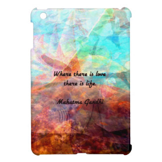 Gandhi Inspirational Quote about Love, Life & Hope Cover For The iPad Mini