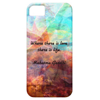 Gandhi Inspirational Quote about Love, Life & Hope iPhone 5 Cover