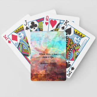 Gandhi Inspirational Quote about Love, Life & Hope Poker Deck