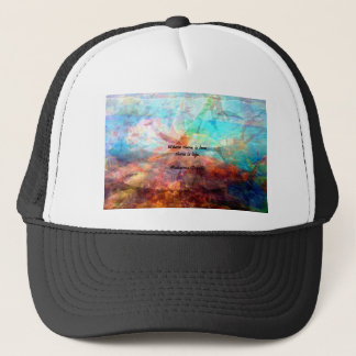 Gandhi Inspirational Quote about Love, Life & Hope Trucker Hat