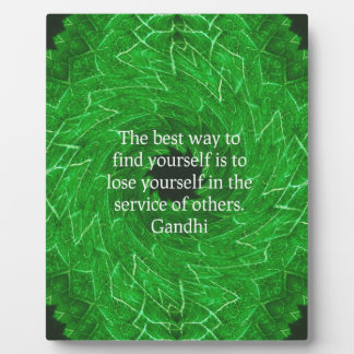 Gandhi Inspirational Quote About Self-Help Plaques