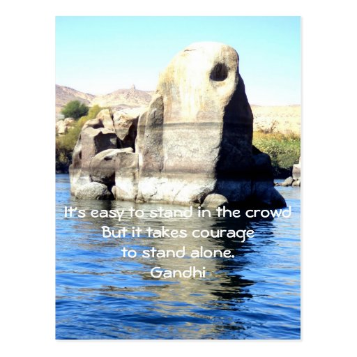 Gandhi Inspirational Quote Quotation About Courage Postcards