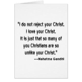 Gandhi on Christians Greeting Card