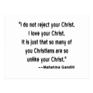 Gandhi on Christians Postcard
