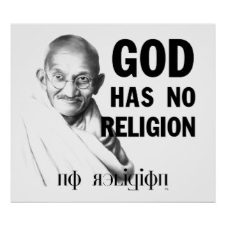 Gandhi on God Poster