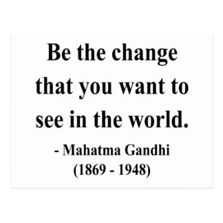 Gandhi Quote 1a Post Cards