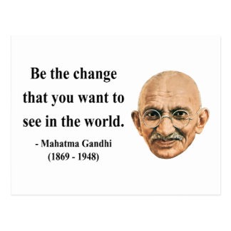 Gandhi Quote 1b Postcard