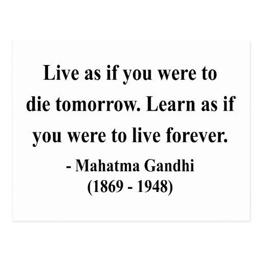 Gandhi Quote 4a Postcards