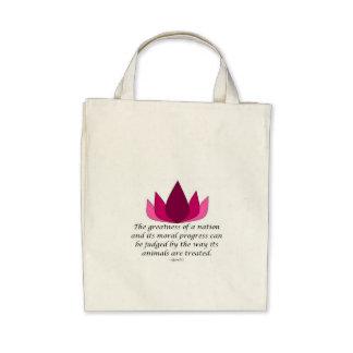 Gandhi Quote Canvas Bag