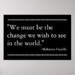 Gandhi Quote Print