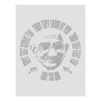 Gandhi - Then You Win Postcard