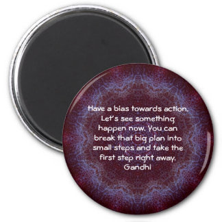 Gandhi Wisdom Quotation Saying about Action 6 Cm Round Magnet