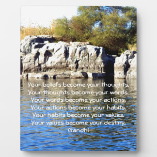 Gandhi Wisdom Saying Quotation About  Destiny Photo Plaques