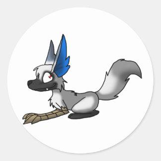 Ganene the Griffox Round Sticker