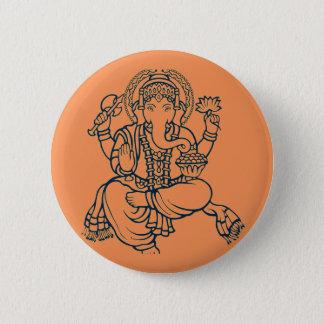 Ganesh 6 Cm Round Badge