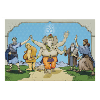 GANESH AND FRIENDS POSTER