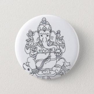 Ganesh button badge