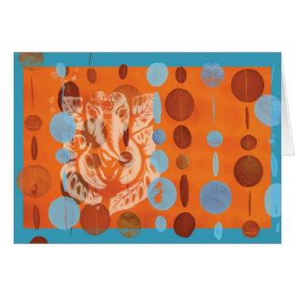 Ganesh Card Orange