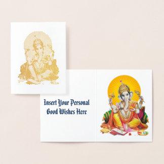 Ganesh Foil Card