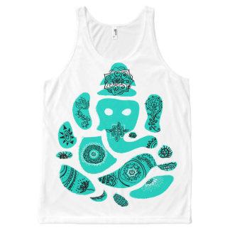 Ganesh Ganesha Hindu India Asian Elephant Vest All-Over Print Tank Top