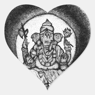 ganesh heart sticker