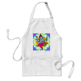 Ganesh in Rainbow colorful design Standard Apron