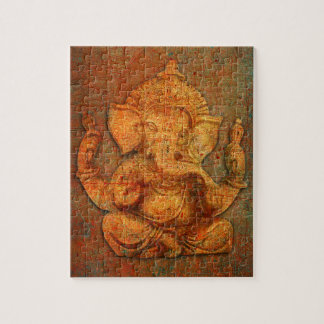 Ganesh On A Distress Stone Background Puzzle